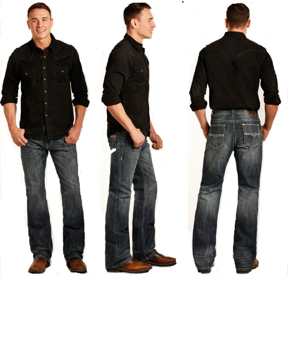 Rock & Roll Cowboy Men's Double Barrel Boot Cut Jean- Style #M0D3464