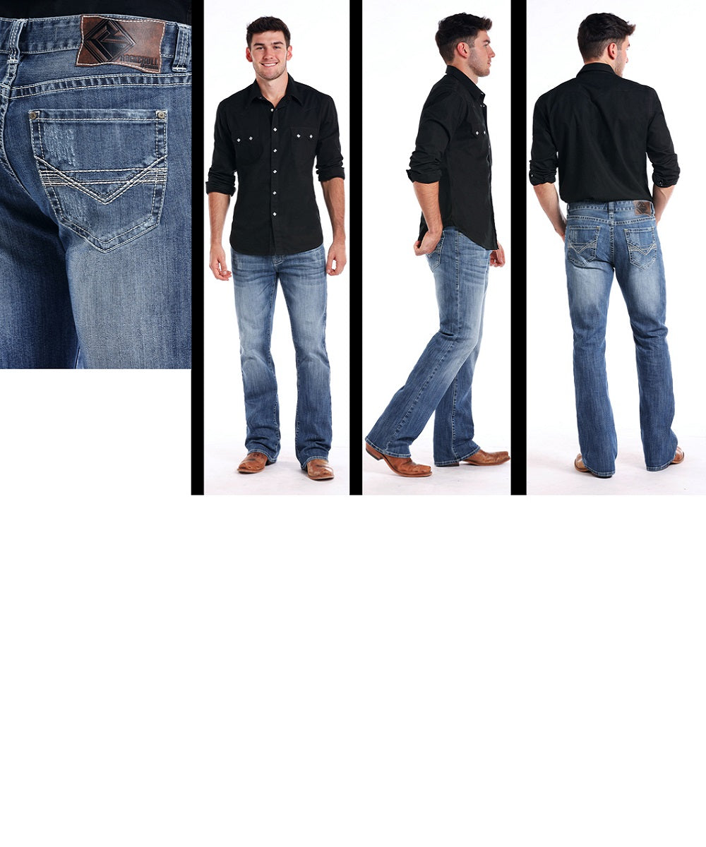 Rock & Roll Cowboy Men's Double Barrel Jean- Style #M0D7384
