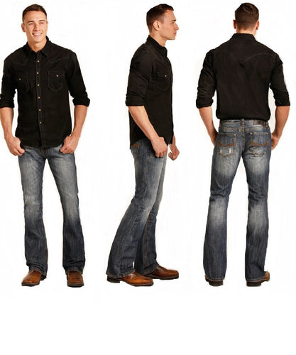Rock & Roll Cowboy Men's Pistol Boot Cut Jean- Style #M0P3472