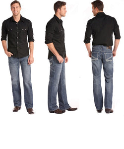 Rock & Roll Cowboy Men's Double Barrel Straight Leg Jean- Style #M0S6606