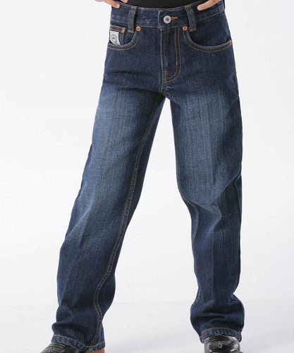 Cinch Boys' Slim White Label Dark Wash Jean- Style #MB12881002