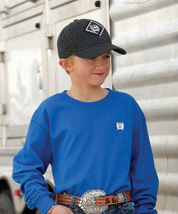 Cinch Boys' Black Check Baseball Cap- Style #MCC0507003