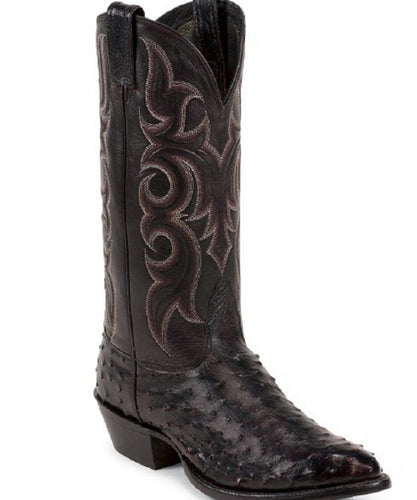 Nocona Men's Black Cherry Premium Full Quill Ostrich Boot- Style  #MD8506