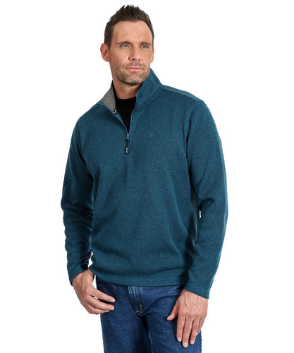 Wrangler Men's George Strait Pullover- Style #MGSK61Q-HEATHER TEAL