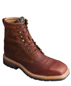Twisted X Men's Lite Cowboy Lacer Workboot- Style #MLCSLW1