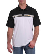 Cinch Men's ArenaFlex Black And White Polo- Style #MTK1866001