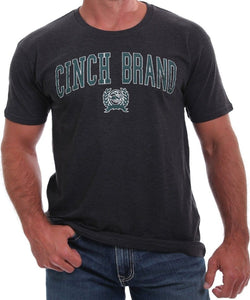 Cinch Men's Heather Black Logo Tee - Style #MTT1690392