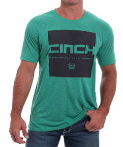 Cinch Men's Heather Green Logo Tee - Style #MTT1690394