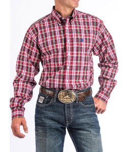 CINCH MEN'S LONG SLEEVE BUTTON DOWN PLAID SHIRT - STYLE #MTW1104643