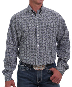 Cinch Men's Medallion Print Button Down Shirt- Style #MTW1105024