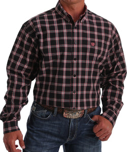 Cinch Men's Black Plaid Button Down Shirt - Style #MTW1105045