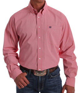 Cinch Men's Coral Print Button Down Shirt- Style #MTW1105054