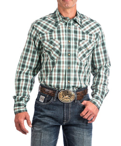 CINCH MEN'S LONG SLEEVE PLAID MODERN FIT SNAP SHIRT - STYLE #MTW1312026