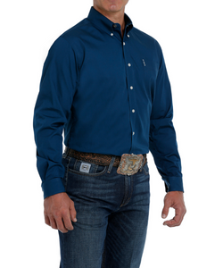 Cinch Men's Navy Long Sleeve Modern Fit Shirt- Style #MTW1347021