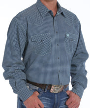 Cinch Men's Navy Print Western Snap Shirt- Style #MTW1682009
