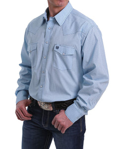 Cinch Men's Blue Print Western Snap Shirt- Style #MTW1682022