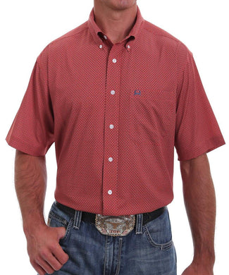 Cinch Men's Red Print Button Down Shirt - Style #MTW1704069