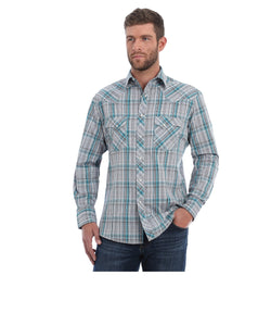 Wrangler Men's Plaid Snap Shirt- Style #MVG221M