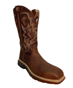Twisted X Men's Nano Composite Toe Cellstretch Western Work Boot- Style #MXBN001