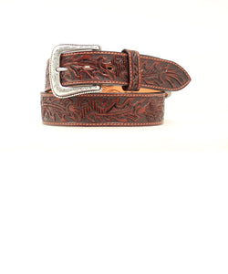 M&F Western Men's Nocona Hand Tooled Leather Belt- Style #N2490802