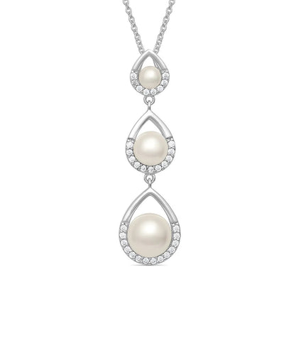 Montana Silversmiths Women's Perfect Pearl Teardrop Necklace- Style #NC4812