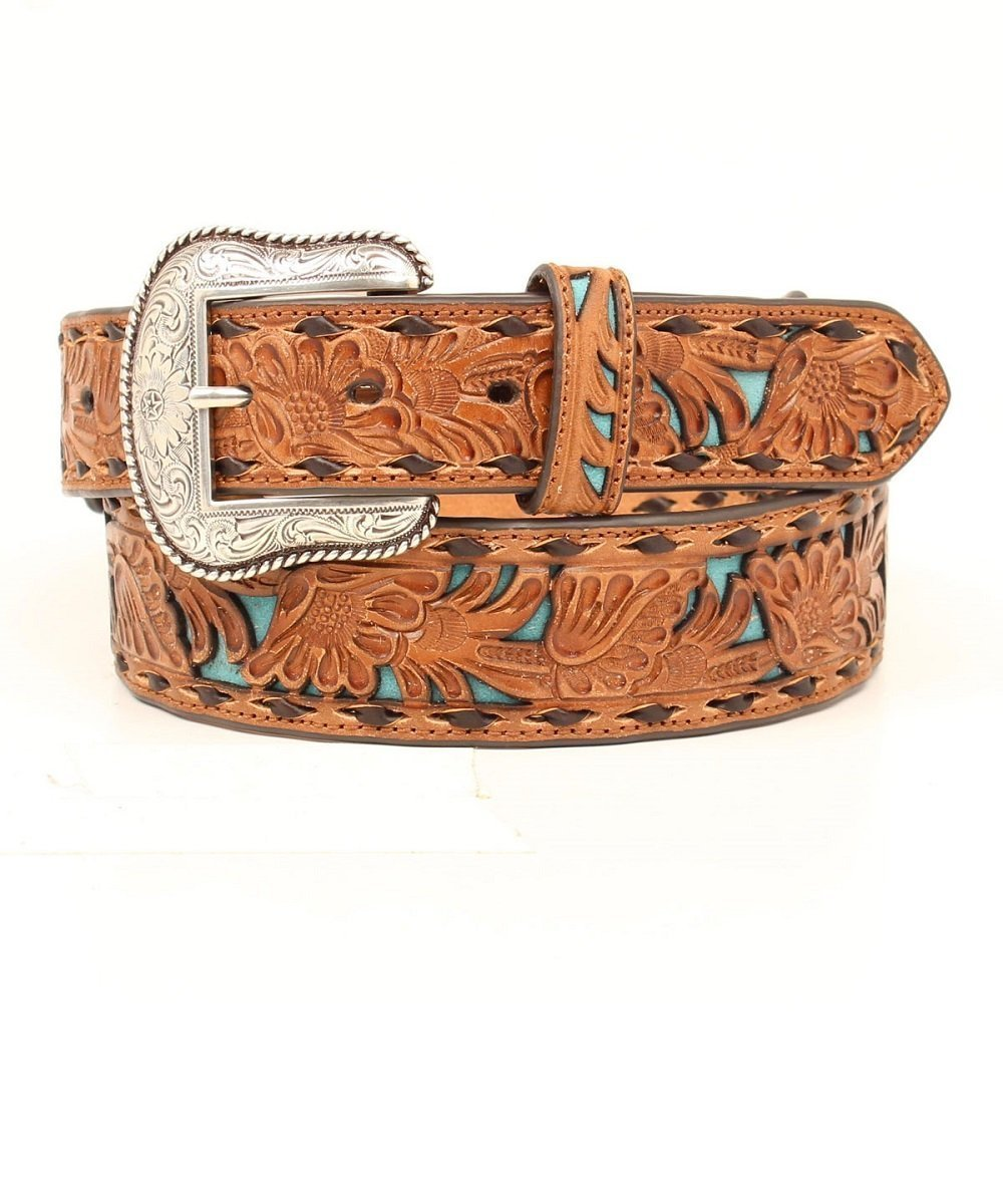 M&F Western Men's Nocona Pierced Tapered Belt- Style #N2414608-BROWN