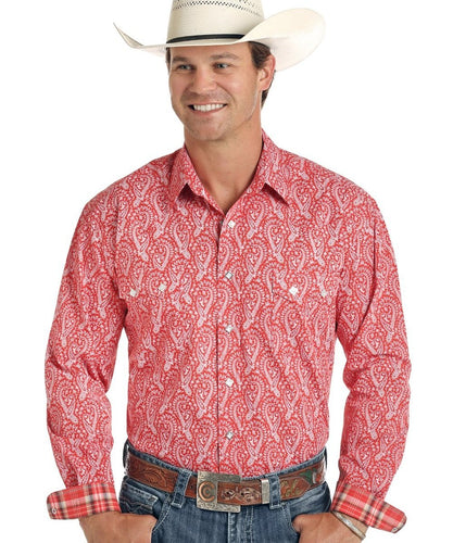PANHANDLE SLIM MEN'S ROUGH STOCK SNAP SHIRT- STYLE #R0S9402
