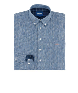 Resistol Men's Blue Cottonwood Button Down Shirt- Style #R1F907-B003B3