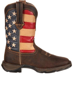 Durango Women's Lady Rebel Patriotic Western Flag Boot- Style #RD4414