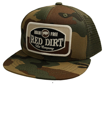 Red Dirt Hat Co. Youth Roam Free Logo Camo Cap- Style #RDHCY-15