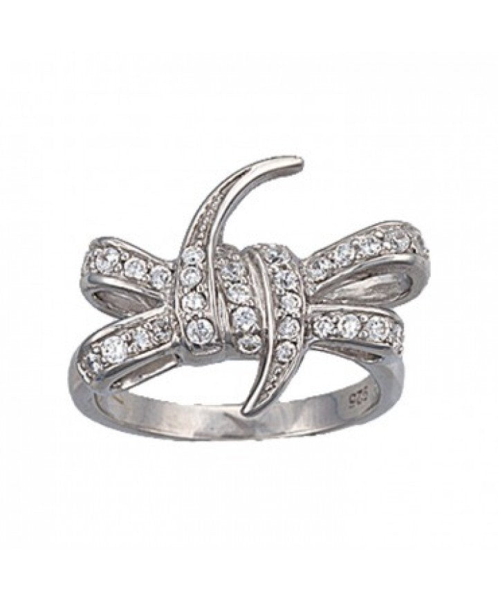 MONTANA SILVERSMITHS WOMEN'S BARBED WIRE BOW RING- STYLE #RG1869