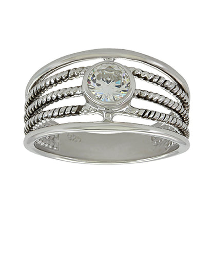 Montana Silversmiths Women's Triple Rope Solitaire Ring- Style #RG3830S