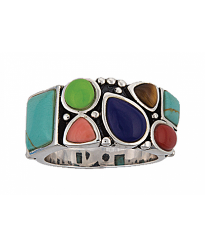 MONTANA SILVERSMITHS WOMEN'S CANYON TREASURES STONE AND SILVER RING- STYLE #RG94