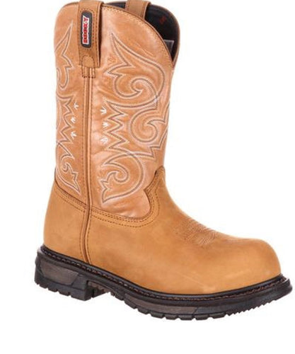 ROCKY WOMEN'S ORIGINAL RIDE COMPOSITE TOE WATERPROOF WESTERN BOOT- STYLE #RKW0175