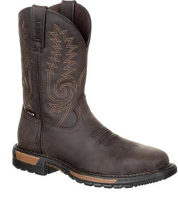 Rocky Men's Original Ride Waterproof Steel Toe Western Work Boot- Style #RKW0233