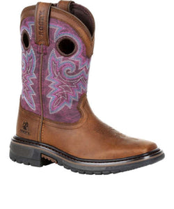 Rocky Big Kids' Original Ride FLX Western Boot- Style #RKW0302Y