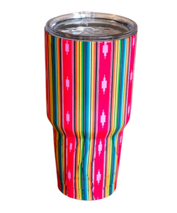Lucky & Blessed Fuschia Aztec Tumbler- Style #T-CUP-AZFUC