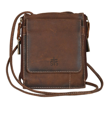 CARROLL COMPANIES WOMEN'S STS BARONESS EURO CROSS BODY - STYLE # STS34035-BROWN