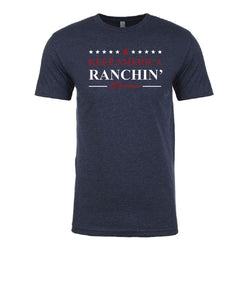 Carroll Companies Men's STS Keep America Ranchin' Tee- Style #STS6210MN