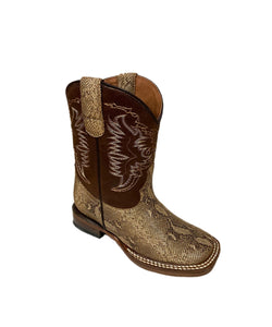 Tanner Mark Boys' Little Monster Carunga Lizard Print Boot- Style #TMK200775