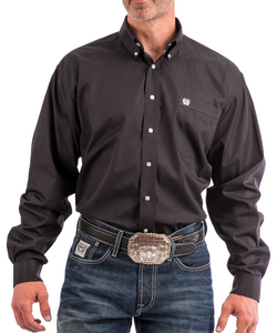 Cinch Men's Black Button Down Shirt- Style #MT10320083