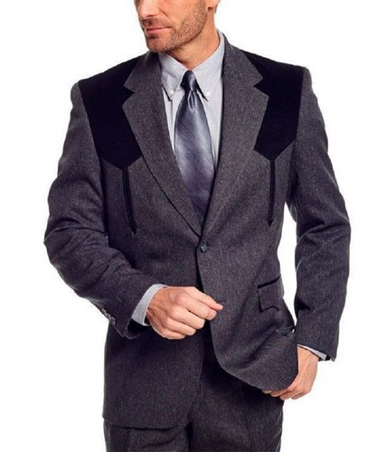 Circle S Men's Charcoal Gray Western Sport Coat- Style #CC2976-40