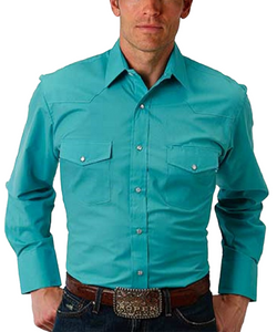 ROPER MEN'S LONG SLEEVE SNAP SHIRT - STYLE #01-001-0025-0315