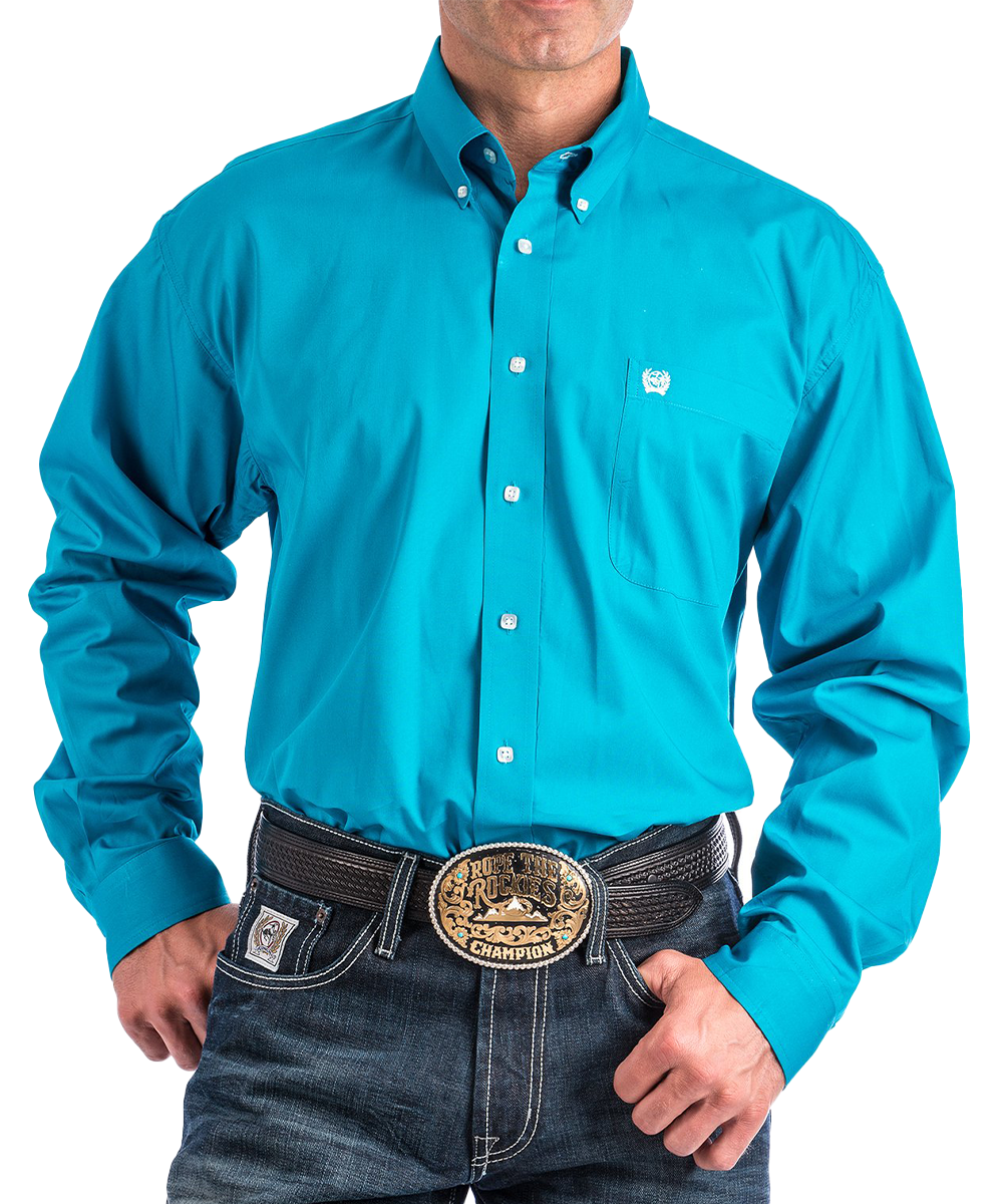 Cinch Men's Teal Long Sleeve Button Down Shirt- Style #MTW1103800