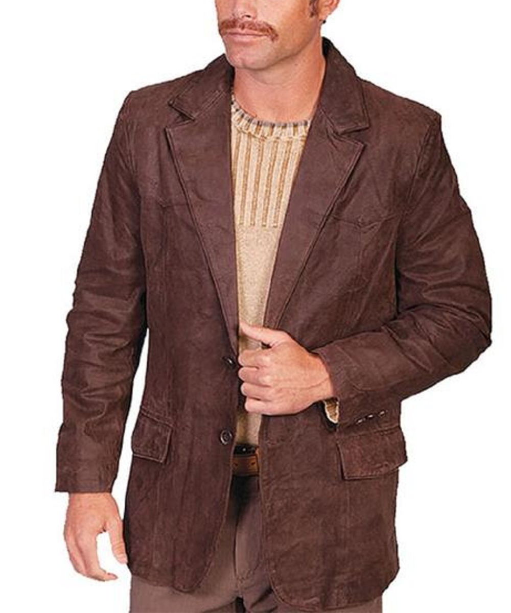 Scully Men's Leather Blazer- Style #602 63 BRN BIG