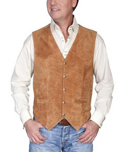 Scully's Leather Suede Rust Maple Vest-Style #507SUEDE 212