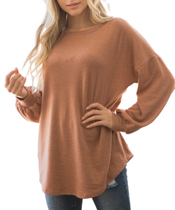Cowpokes Bootique Women's Rust Lace Fashion Top- Style #M21796