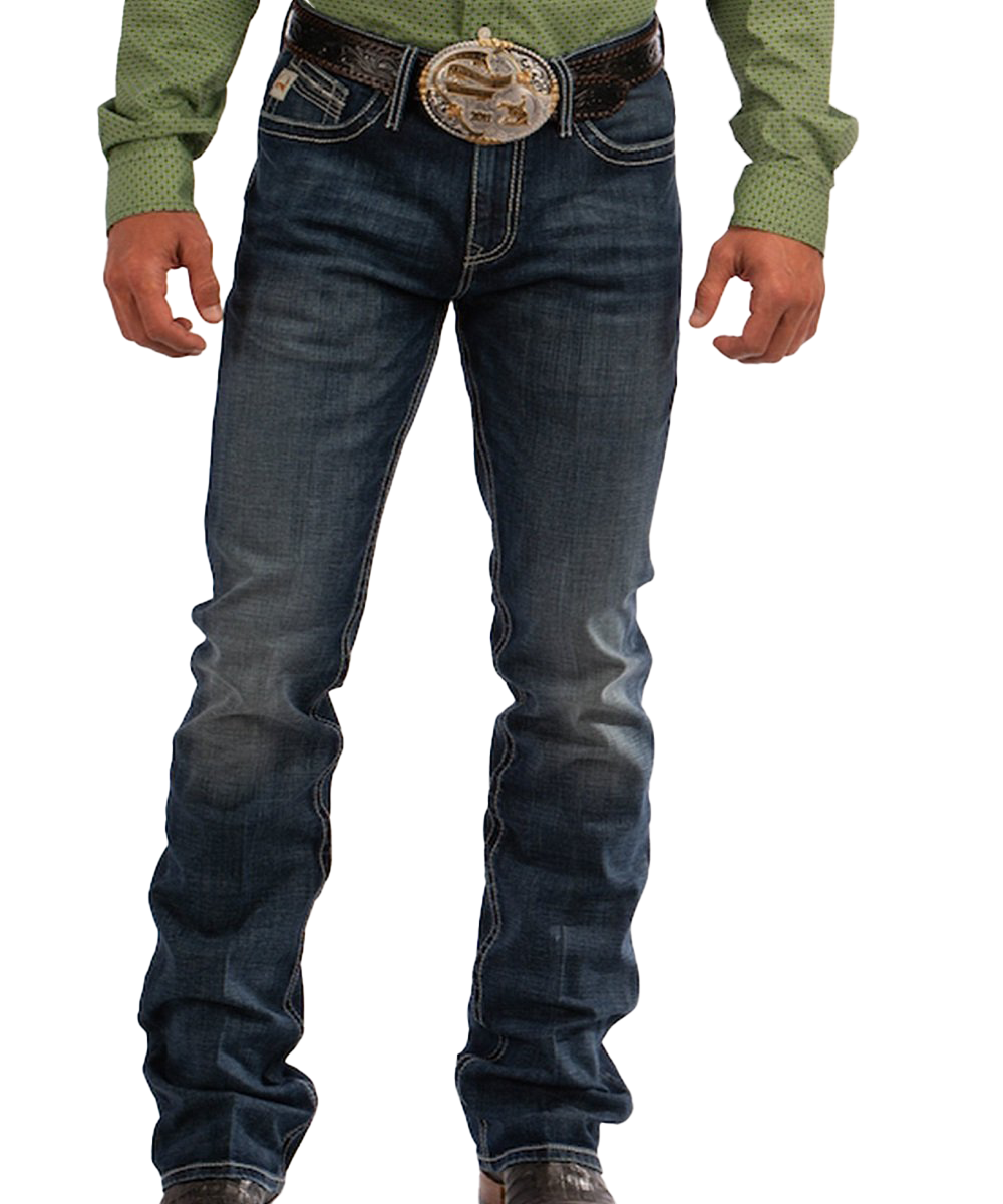 Cinch Men's Slim Fit Ian June Dark Stonewash Jean- Style #MB67836001