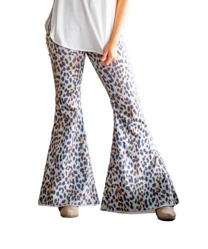 Lucky & Blessed Apparel Women's Cheetah Flares- Style #L18074-LCHT