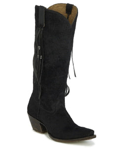 Tony Lama Women's Calua Black Hair On Calf Boots- Style #VF3052